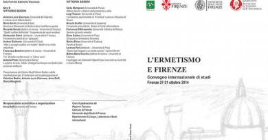 Dal 27 al 31 ottobre: L'Ermetismo e Firenze