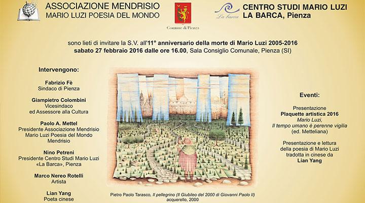 11° anniversario della morte di Mario Luzi